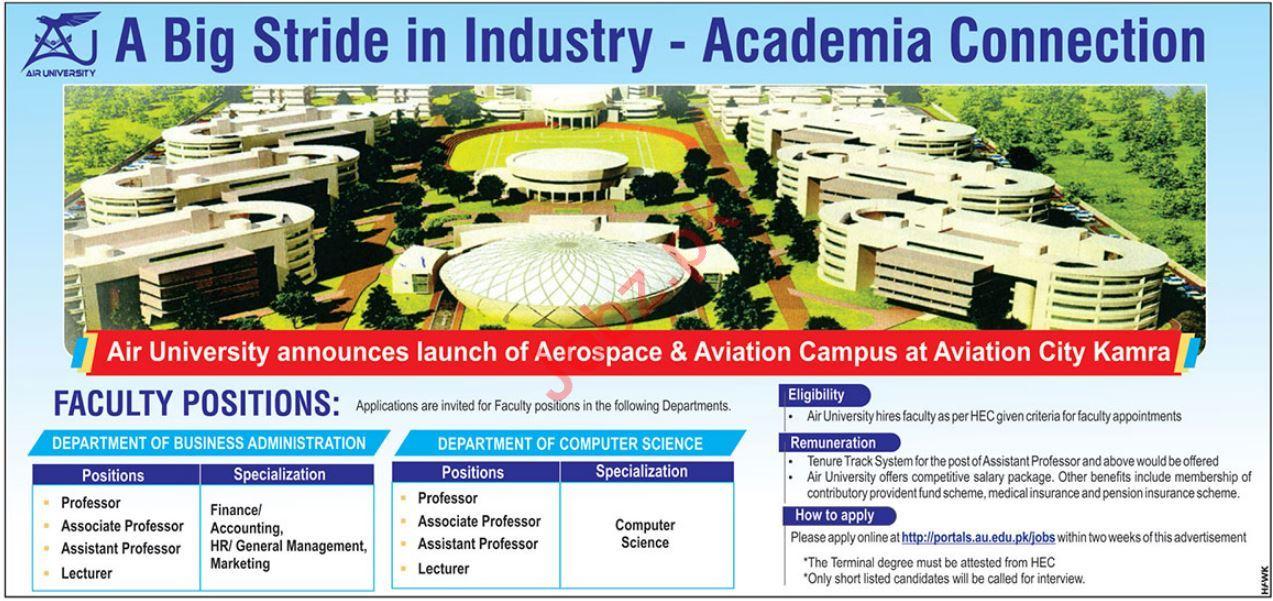 Air University Faculty Jobs 2019 in Kamra