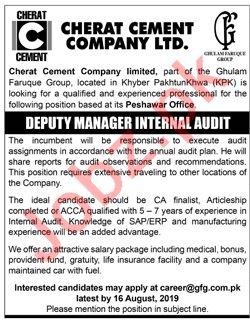 Cherat Cement Company Limited Peshawar Jobs 2019 Job Advertisement