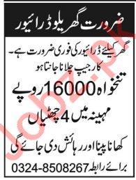 House Driver Job 2019 in Peshawar KPK