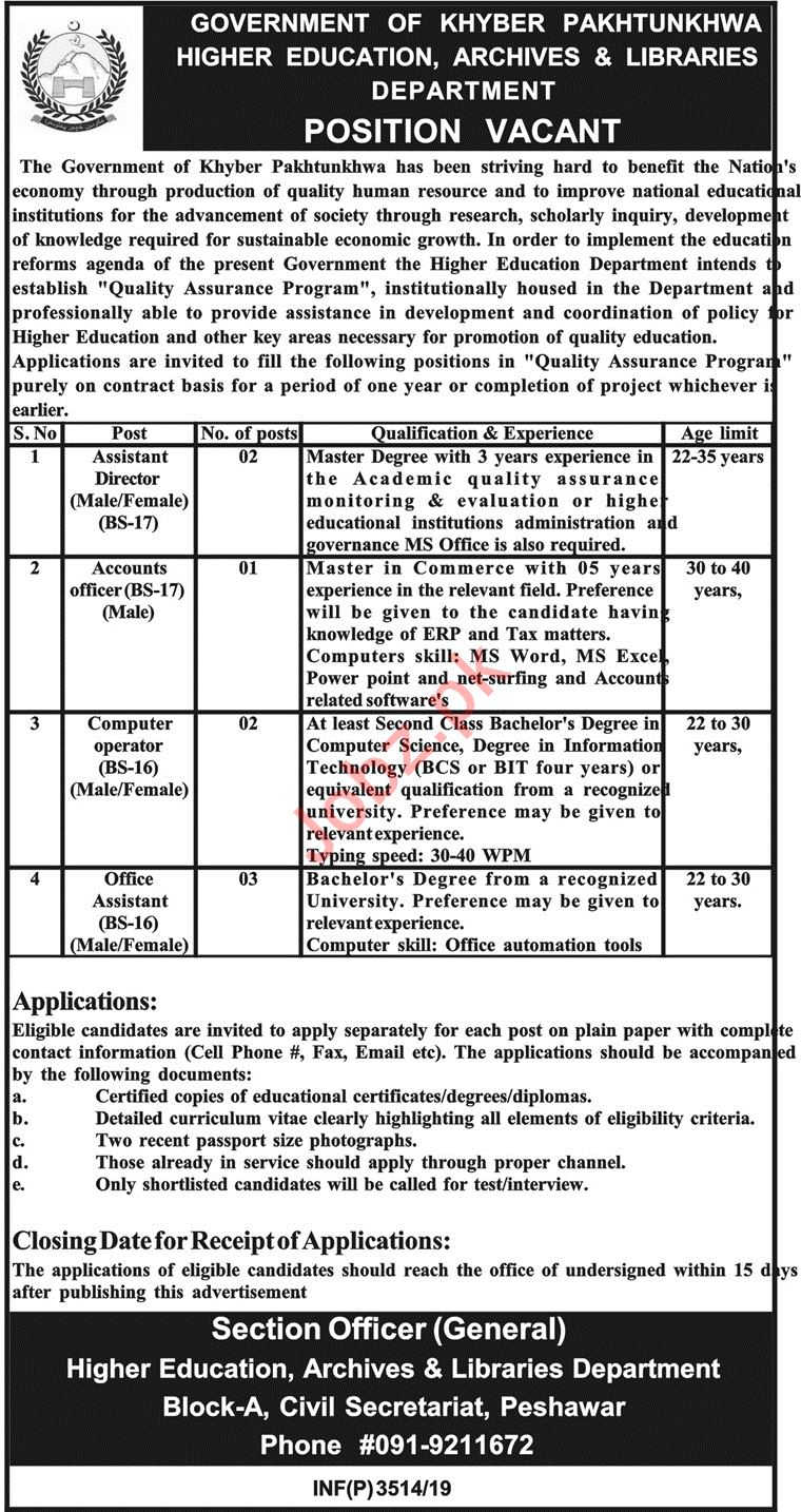 Higher Education Archives & Libraries Department Jobs 2019