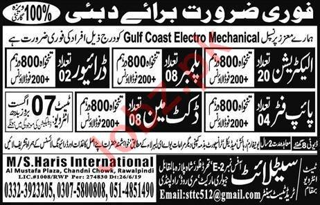 Gulf Coast Electro Mechanical Company Jobs in Dubai UAE