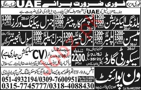 Construction Company Jobs 2019 in UAE
