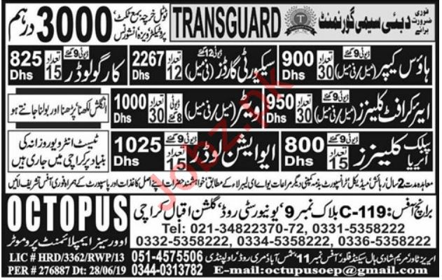 Transguard Semi Government Company Jobs in Dubai UAE