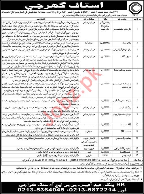 Peoples Primary Healthcare Initiative PPHI Sindh Jobs 2019