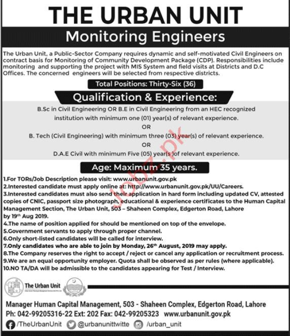The Urban Unit Civil Engineers Jobs