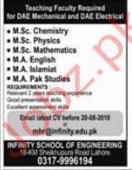 Infinity School of Engineering Jobs