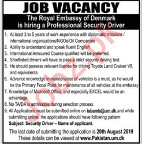 The Royal Embassy Of Denmark Jobs in Lahore