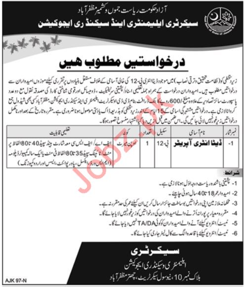 Elementary and Secondary Education Department Job 2019