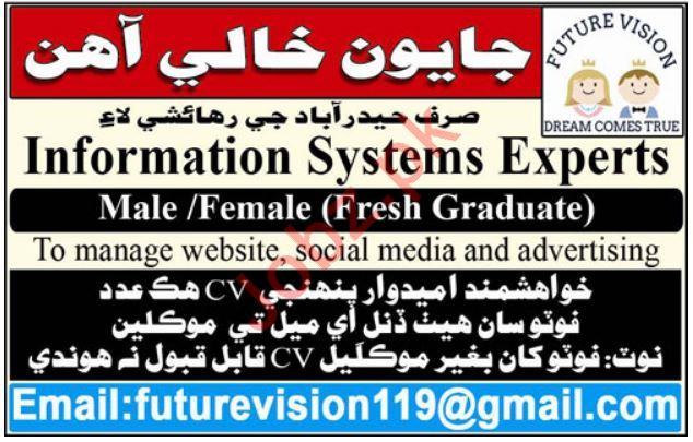 Future Vision Job 2019 in Hyderabad