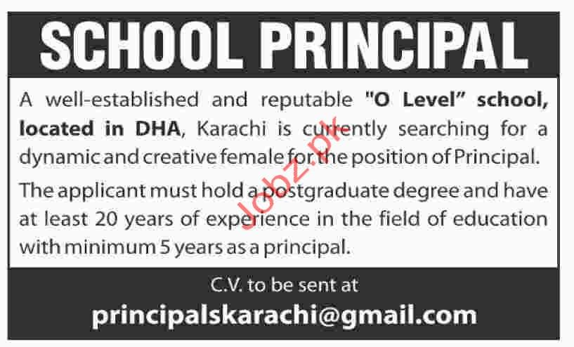 Principal Jobs