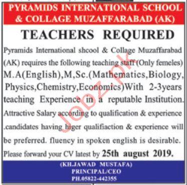 Pyramids International School & College AJK Jobs