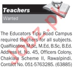 Daily The News Newspaper Classified Teaching Ads 2019
