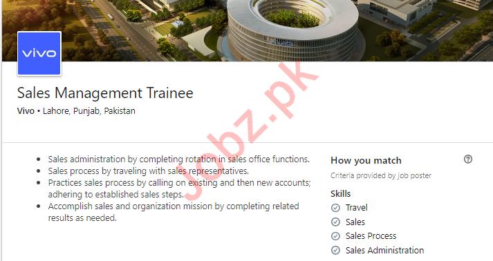 Sales Management Trainee Job in Lahore
