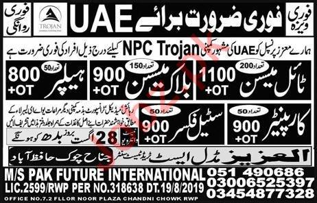 NPC Trojan Company Jobs 2019 in United Arab Emirates UAE