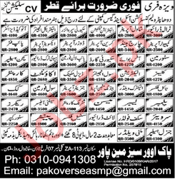 Electrical Engineer HTV Driver Security Guard Jobs in Qatar