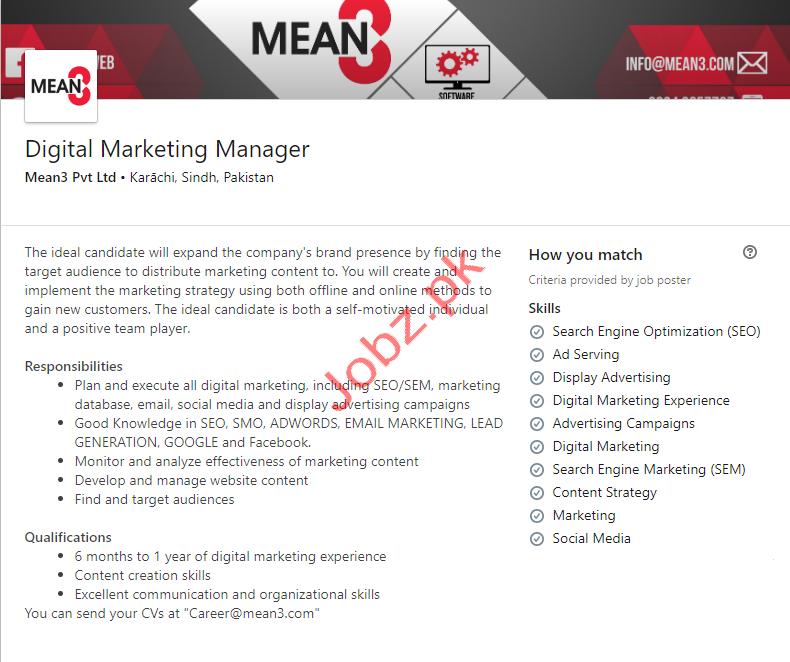Mean3 Pvt Ltd Jobs