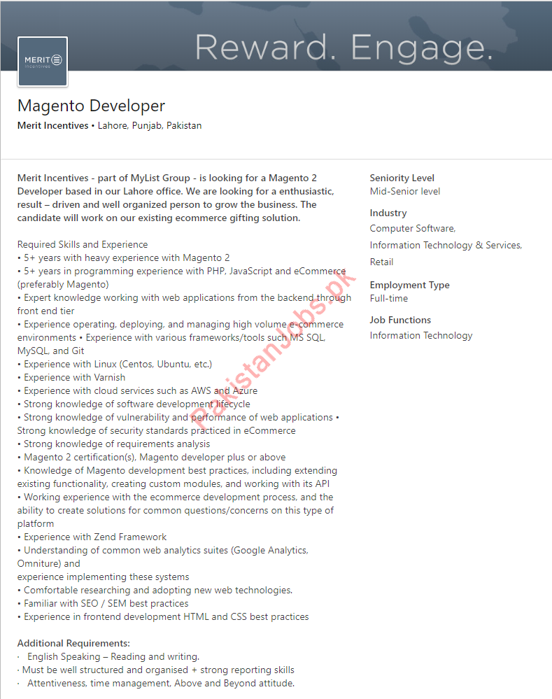 Magento Developer Jobs