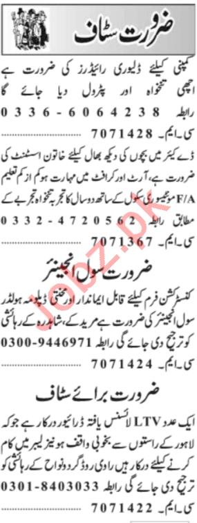 Daily Jang Newspaper Classified Ads 2019 In Lahore 2019 Job