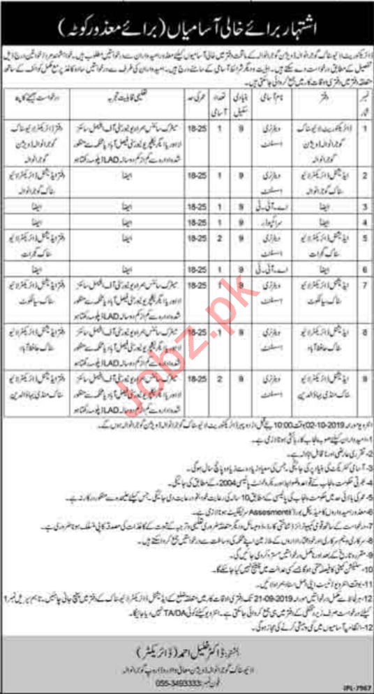 Livestock Department Jobs For Disabled Persons