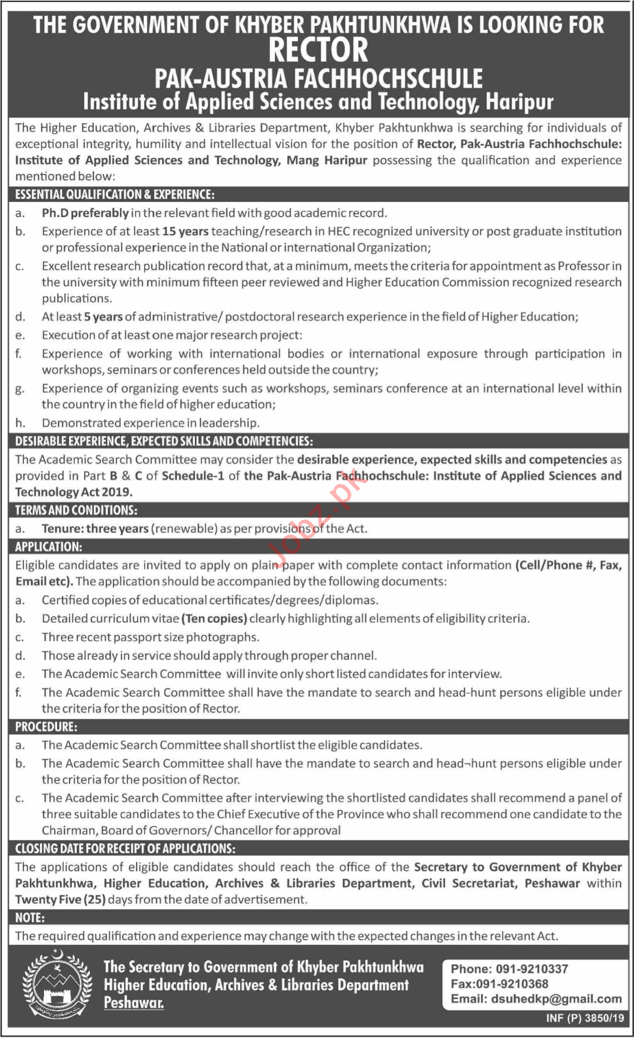 Institute of Applied Sciences And Technology Jobs 2019 Job