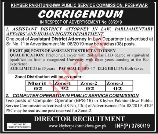 KP Public Service Commission Peshawar Jobs 2019