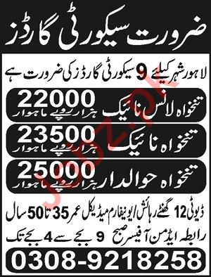 Security Guards Jobs 2019 in Lahore City 2019 Job