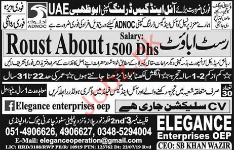 Roustabout Jobs 2019 in UAE 2019 Job Advertisement Pakistan