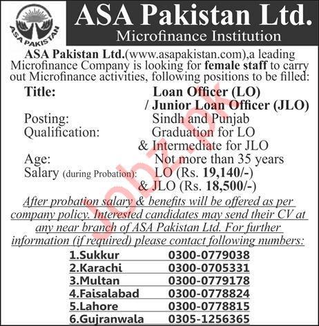 ASA Pakistan Limited Jobs in Multan 2019 Job Advertisement