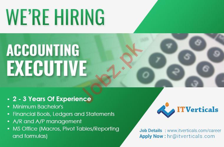 Accounting Executive Job For Karachi