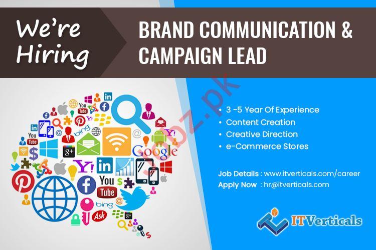 Brand Communication & Campaign Lead Job in Karachi