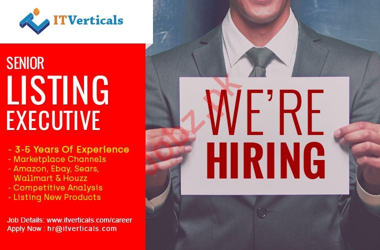 IT Verticals Pvt Ltd Job For Senior Listing Executive