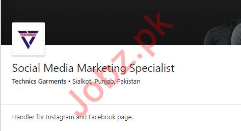 Social Media Marketing Specialist Job in Sialkot