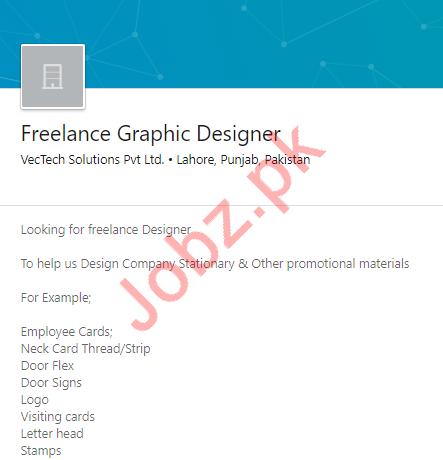Freelance Graphic Designer Job 2019 in Lahore