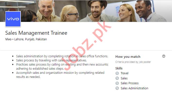 Sales Management Trainee Job 2019 in Lahore