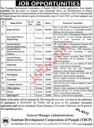 Tourism Development Corporation Punjab Jobs