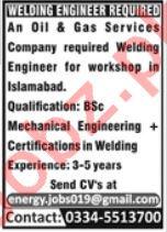 Welding Engineer Jobs 2019 in Rawalpindi