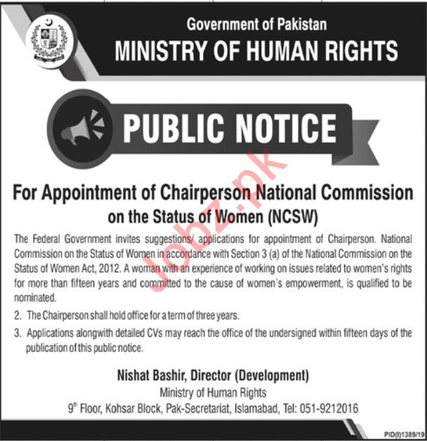 National Commission on the Status of Women NCSW Jobs