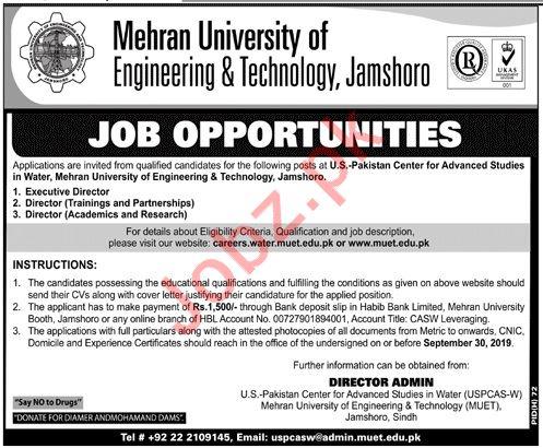 Mehran University of Engineering & Technology MUET Jobs