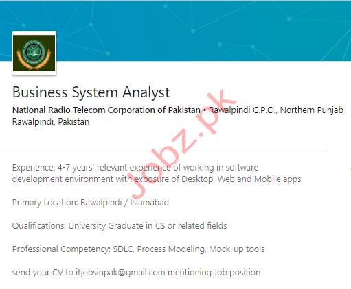 Business System Analyst Jobs in Rawalpindi