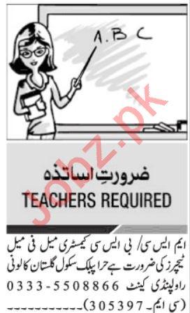 Hira Public School Jobs For Teaching Staff in Islamabad