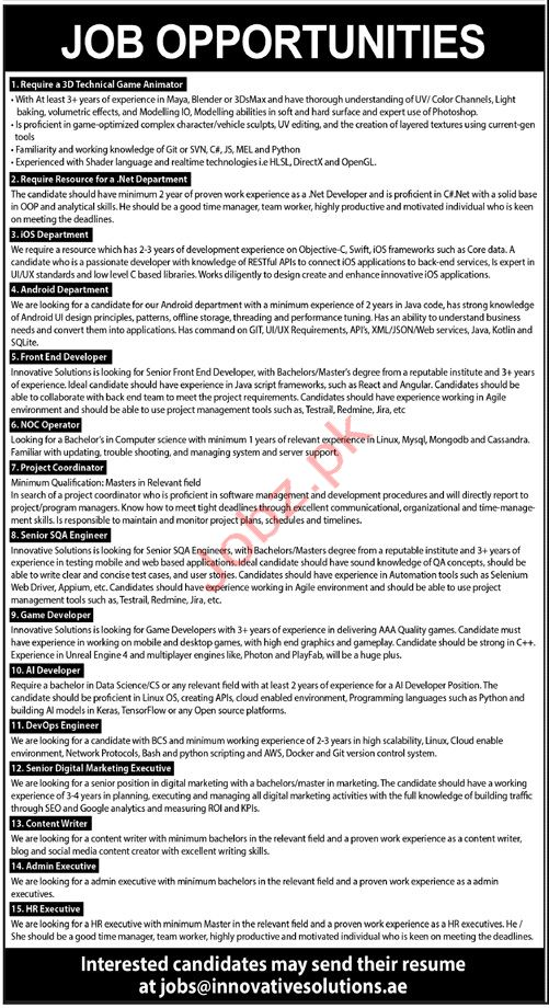 IT Company Jobs in Karachi