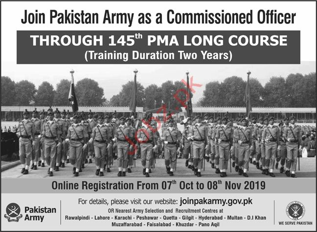 Join Pakistan Army as Commissioned Officer 2019