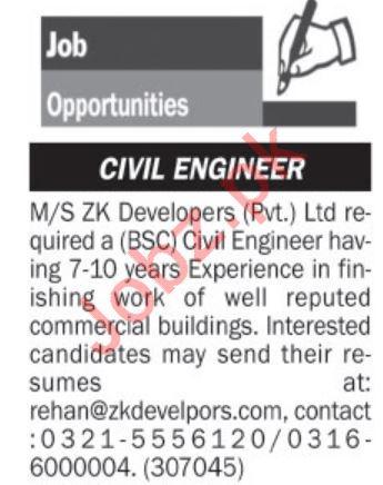 Civil Engineer Job 2019 in Islamabad