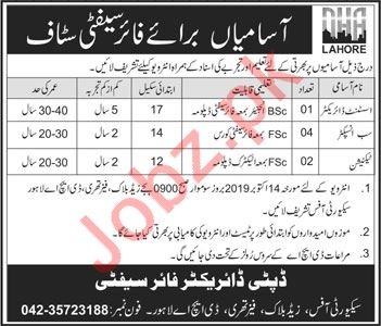 Fire Safety Staff Jobs 2019 in DHA Lahore