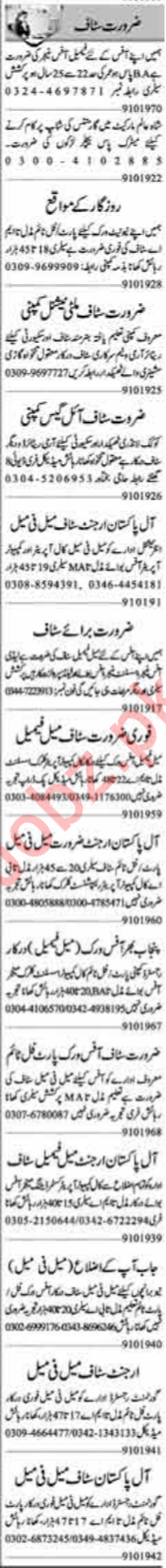 Admin Manager Accountant Receptionist Jobs in Lahore