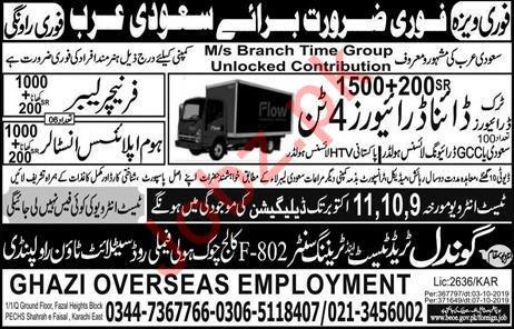 Branch Time Group Jobs For Saudi Arabia