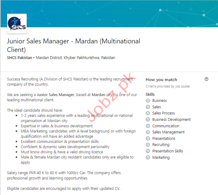 Sales Manager Jobs in Mardan