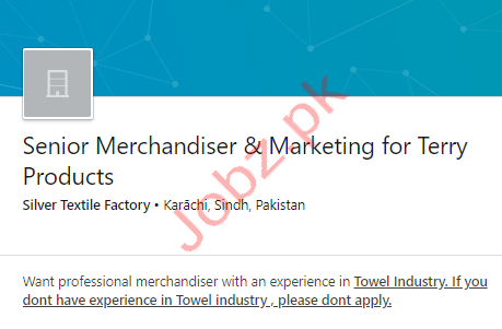 Merchandiser Jobs in Karachi