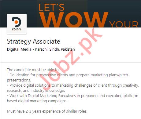 Strategy Associate Job in Karachi