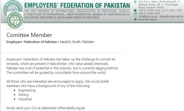 Committee Member Job in Karachi
